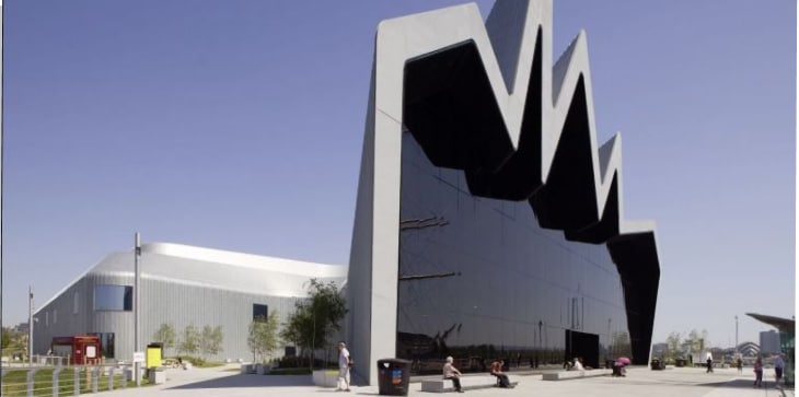 The Glasgow Riverside Museum of Transport and Travel by Zaha Hadid Architects