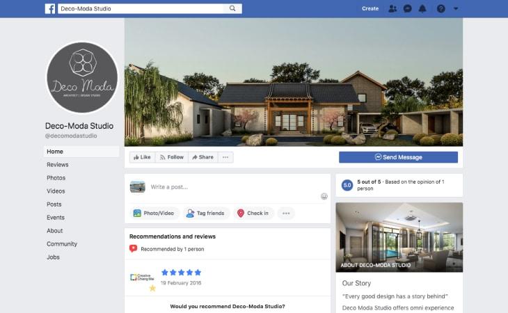 Deco-Moda Studio Facebook's page