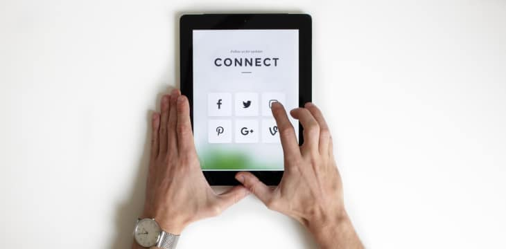 Connect in your social media account